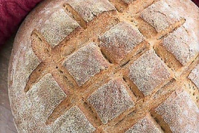 Overhead view of Whole Wheat Country Bread