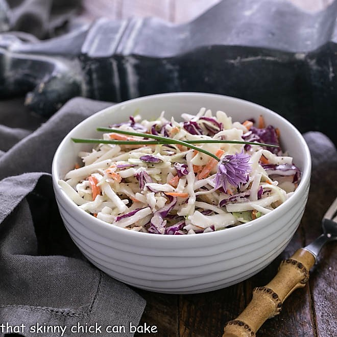 Bowl of cabbage slaw