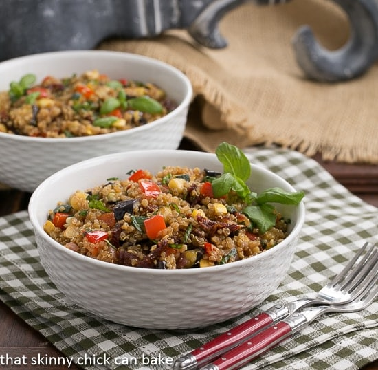 Quinoa Salad with Roasted Vegetables | Hearty, healthy and sublime!