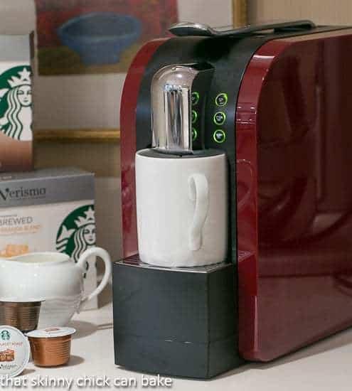 A close up of a Versimo coffee system