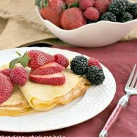 Butter and Rum Crepes | Dosed with Grand Marnier and rum and filled with lemon curd, these are no ordinary crepes!