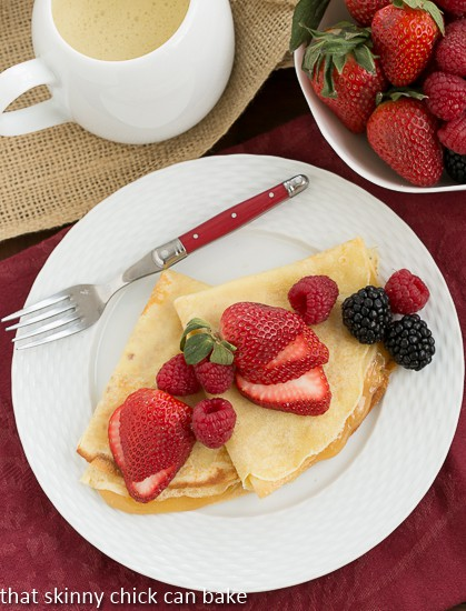 Butter and Rum Crêpes - recipe from Around My French Table by Dorie Greenspan