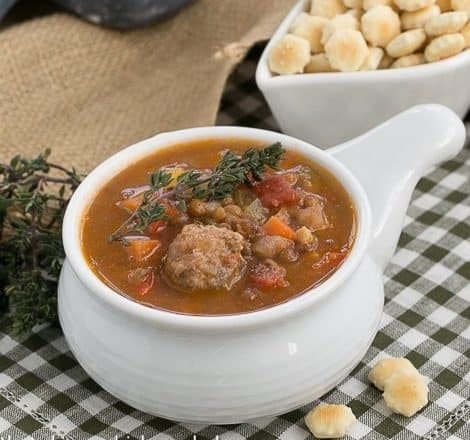 Lentil Soup with Sausage