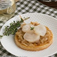 Scallop and Onion Tartes Fines