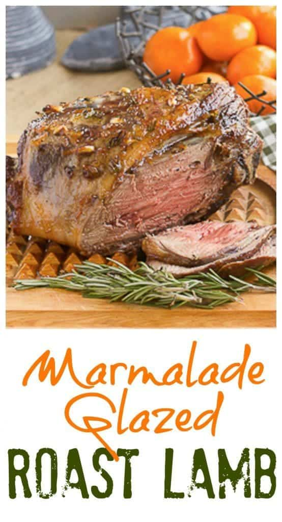 Marmalade Glazed Leg of Lamb with Garlic and Rosemary - Simple flavors make this roast lamb perfect for your Easter feast
