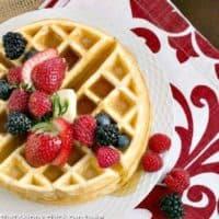 Buttermilk waffles featured image