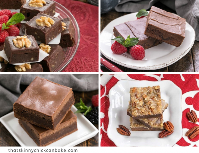Favorite Brownie Recipes 4 photo collage