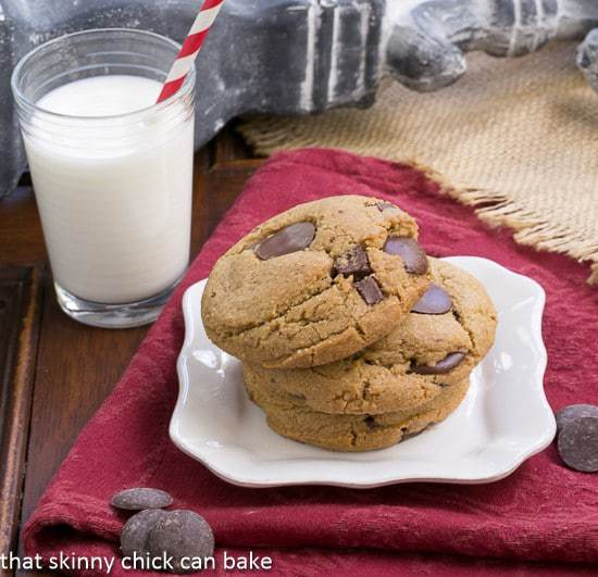 Jumbo Chocolate Chip Cookies | That Skinny Chick Can Bake