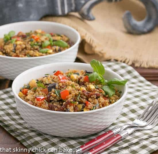 Quinoa Salad with Roasted Vegetables - a healthy, hearty entree or side dish