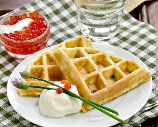 Smoked Salmon Waffles   Waffles with a savory twist!