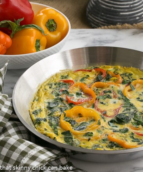 Spinach and Bell Pepper Frittata