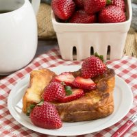 Strawberry Mascarpone Stuffed French Toast