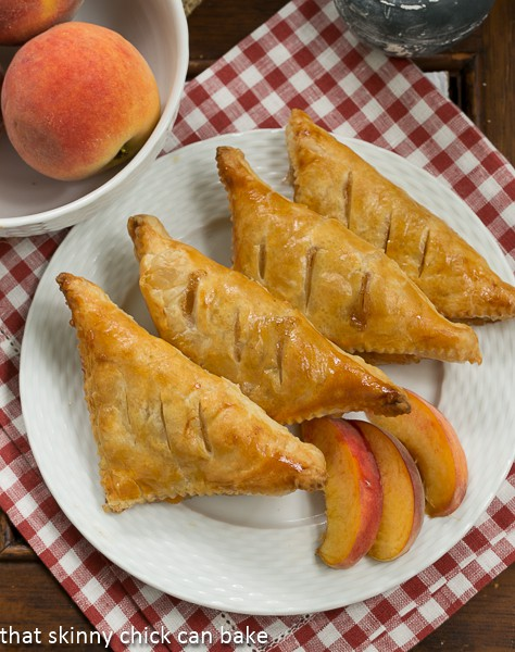 Chaussons aux Pêches - Peach turnovers for Bastille Day