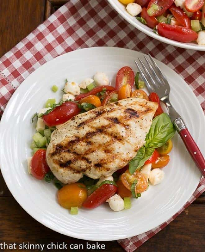 Chicken and Caprese Salad