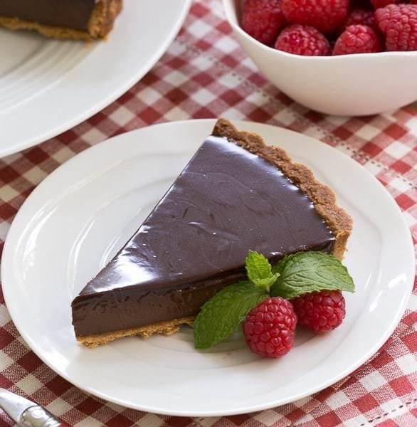 Ganache Topped Chocolate Tart