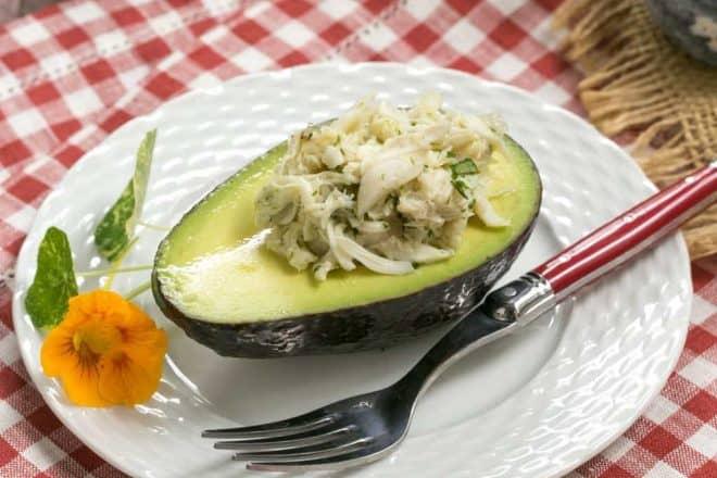 Crab Avocado Ravioli   An elegant, delectable crab salad presentation!