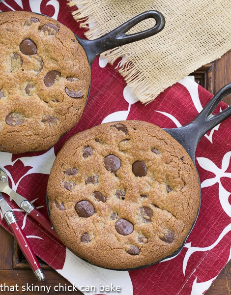 Pizookies from That Skinny Chick Can Bake | Big gooey pan cookies