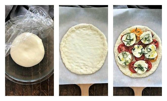 Margherita Pizza process shots