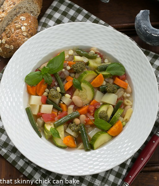 Provençal Vegetable Soup - A delightful summer soup featuring beans and vegetables