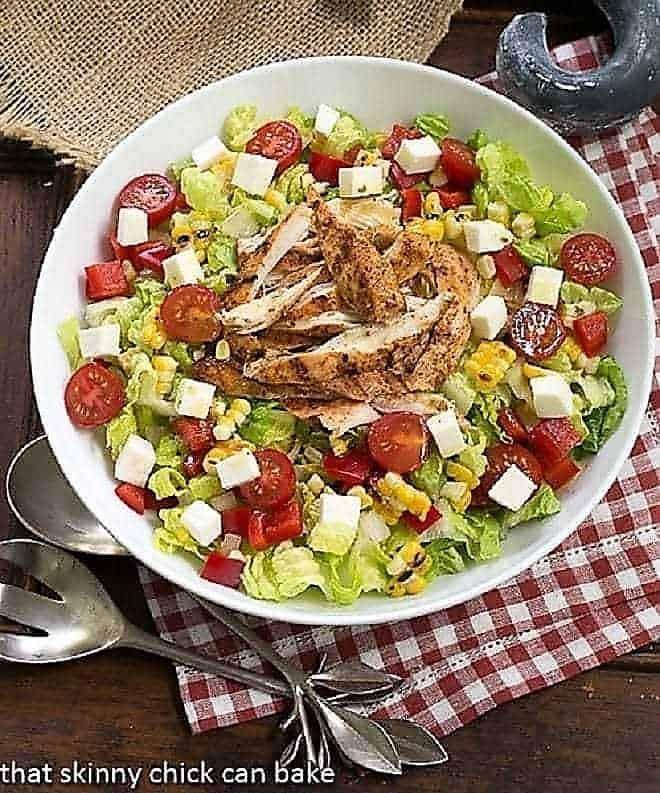 Overhead view of Southwestern Chicken Salad