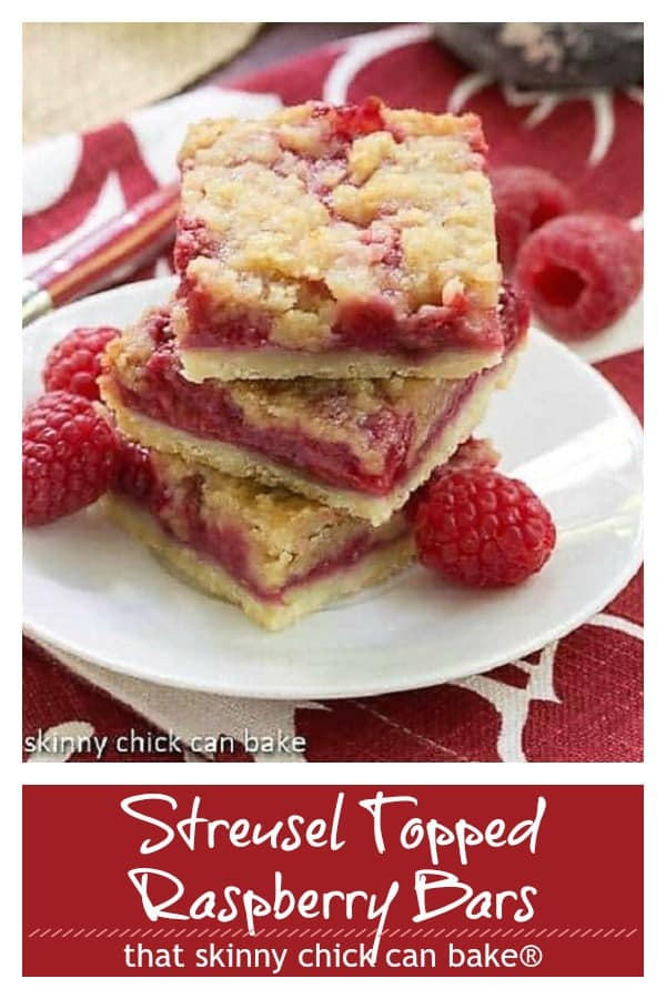 Streusel Topped Raspberry Squares Pinterest collage