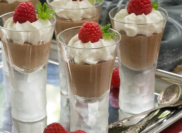 French Silk Shooters | silky, rich dessert in mini form