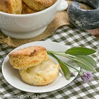 Herbed Buttermilk Biscuits | Tender, buttery biscuits with a boost of flavor from fresh herbs