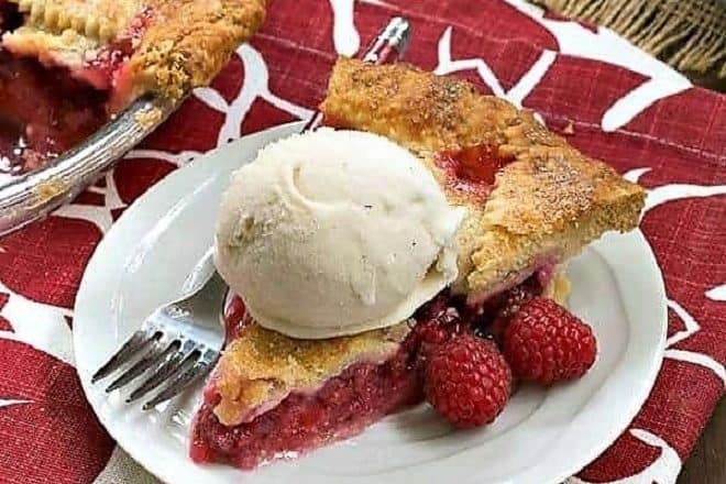 Lattice Topped Raspberry Pie featured image