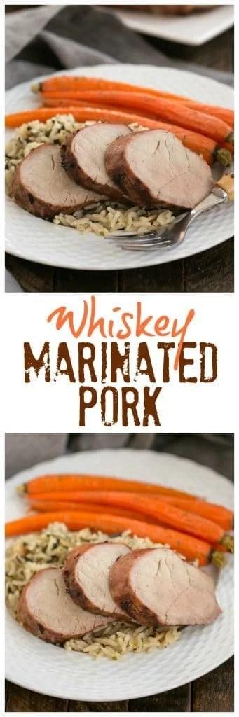 Whiskey Marinated Pork Tenderloin collage