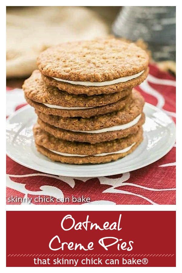 Oatmeal Cream Pies photo and text collage