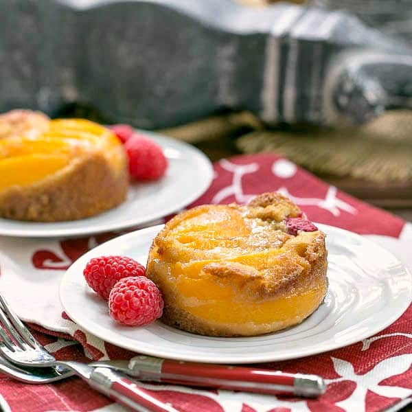 Oven Roasted Peach Cakes - A terrific, adaptable dessert featuring stone fruit!