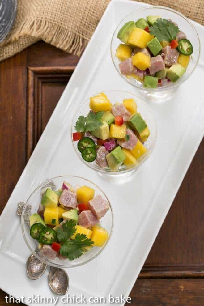Tuna and Mango Ceviche - an elegant, restaurant worthy appetizer you can make at home