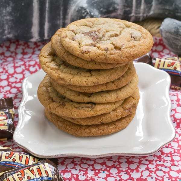 Brown Butter Toffee Cookies   That Skinny Chick Can Bake