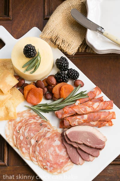 Overhead view of Charcuterie Platter