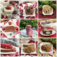 Christmas Desserts Collage