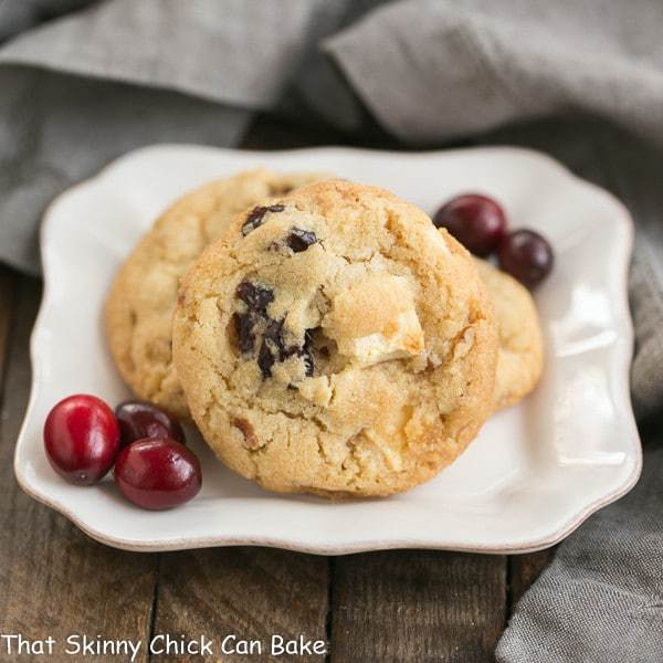 Cranberry, White Chocolate, Crystallized Ginger Cookies | A star studded cookie that's perfect for the holidays and all year long!