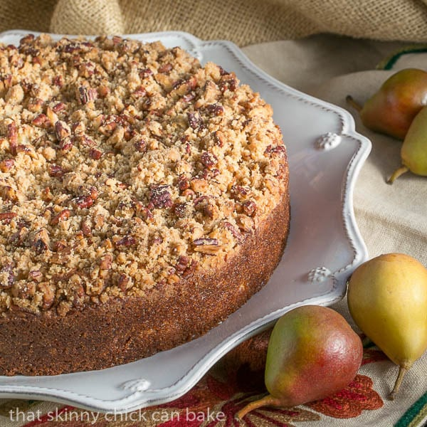 Pear Streusel Coffee Cake | That Skinny Chick Can Bake