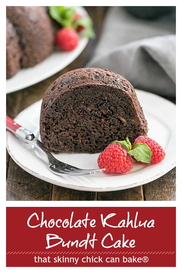 Chocolate Kahlua Bundt Cake photo and text collage