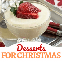Best Christmas Desserts collage with a photo and text box