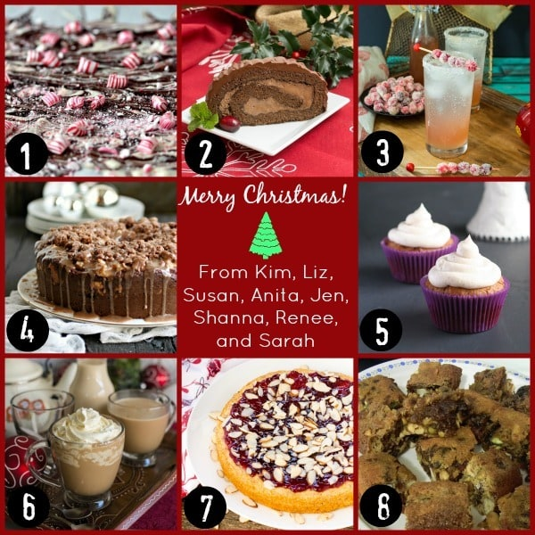 Christmas Desserts Party Collage