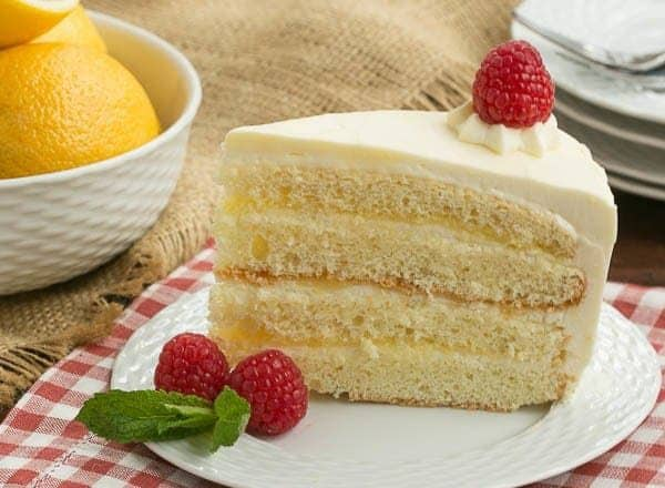 Lemon Mascarpone Layer Cake That Skinny Chick Can Bake