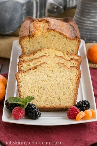 Brown Butter Vanilla Bean Weekend Cake - That Skinny Chick Can Bake