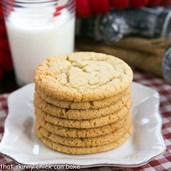 Butterscotch Cookies stacked on a small white plate