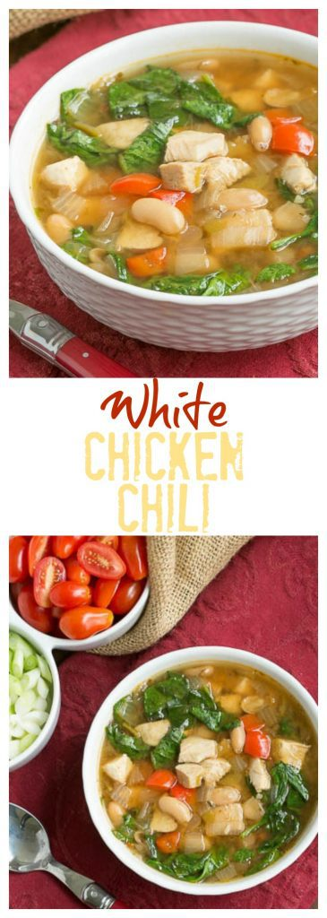 White Chicken Chili pinterest collage