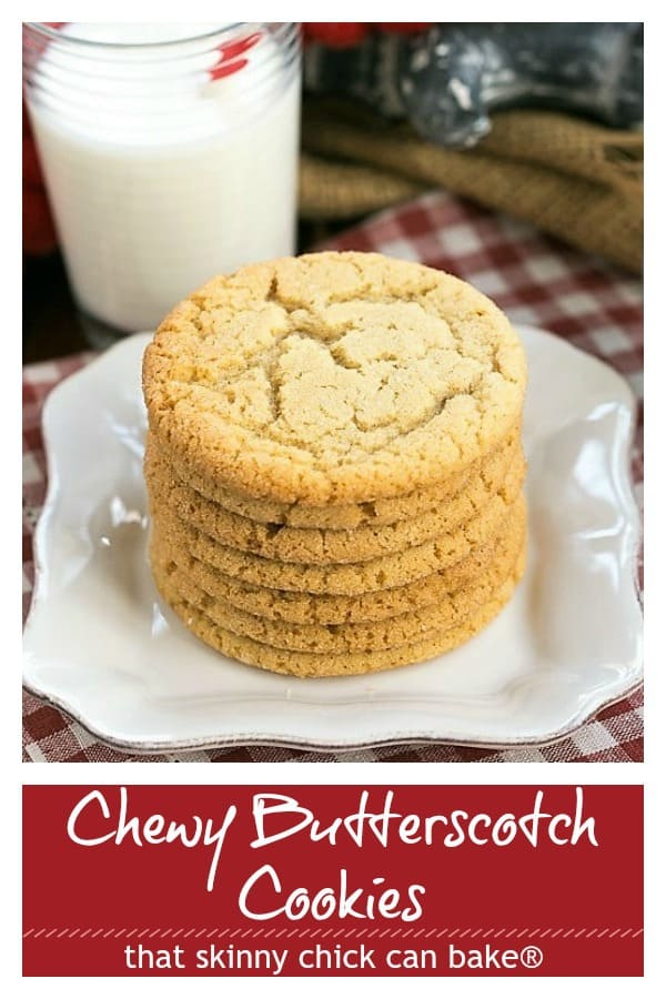 Chewy Butterscotch Cookies Pinterest collage
