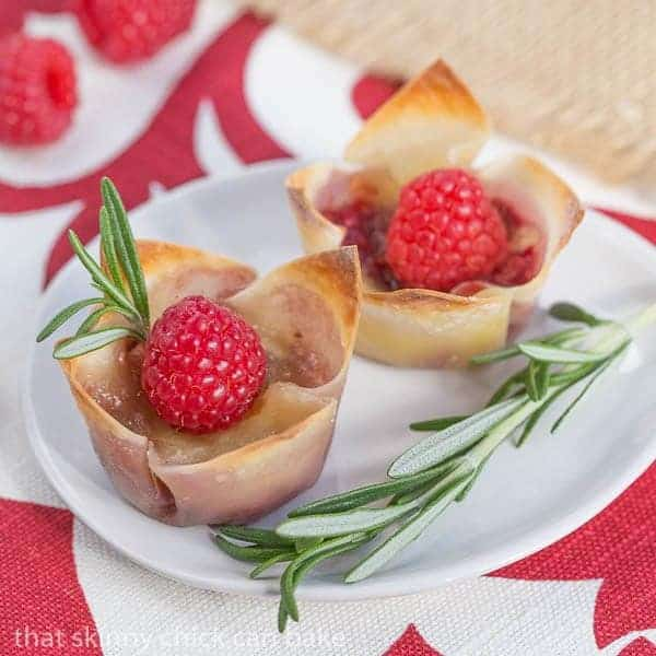 Raspberry Brie Bites - Perfect mini tarts for your next cocktail party