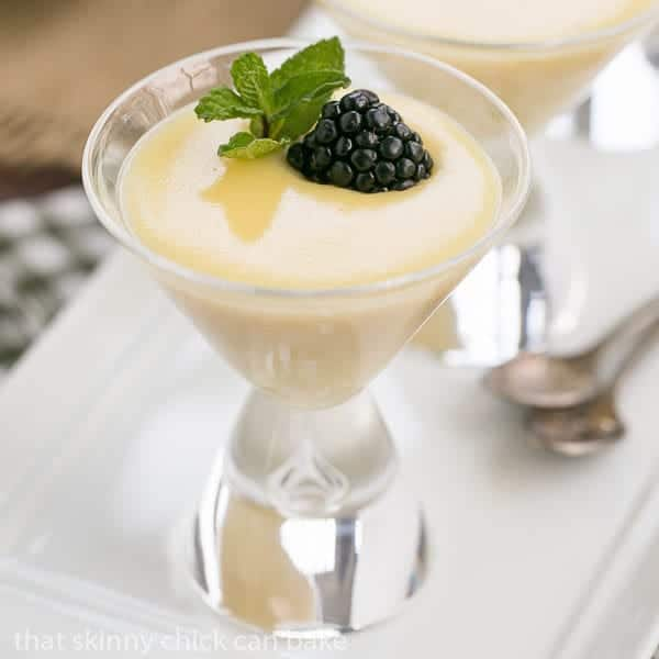 White Chocolate Pudding - Rich and luscious with a splash of Frangelico