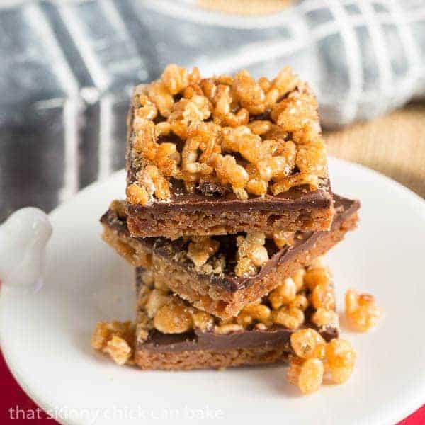 Crispy Topped Brown Sugar Bars - An elegant Rice Krispie Treat!