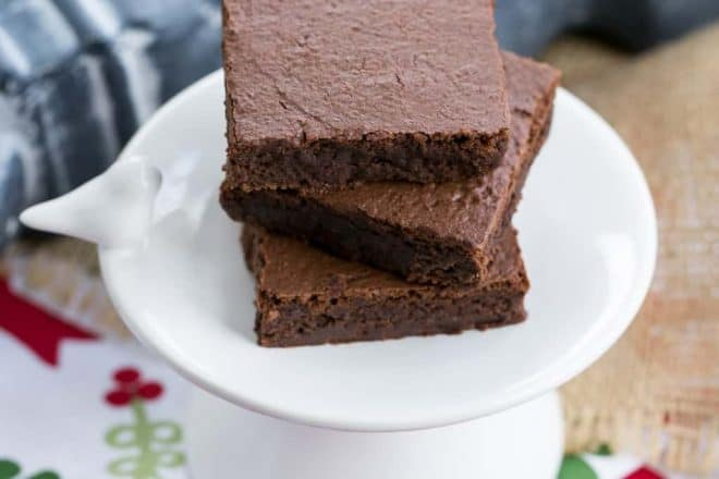Flourless Mocha Brownies | Healthier Brownies made with Garbanzo Beans
