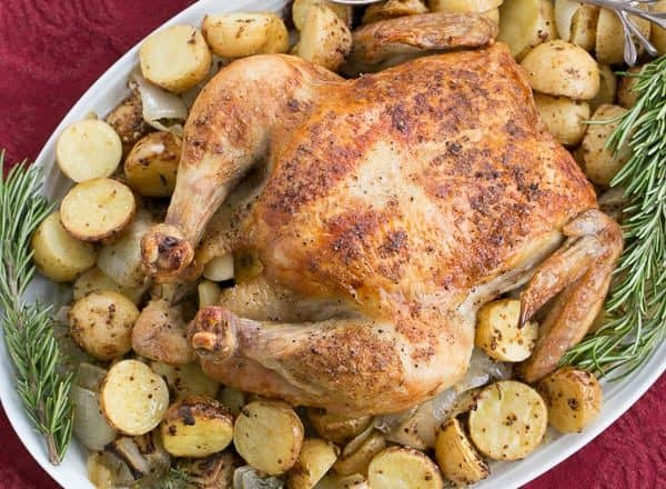 Classic Roast Chicken | #WeekdaySupper Sheetpan Supper with chicken and mustardy potatoes